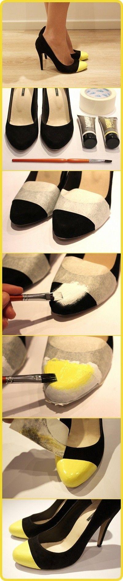 Обновить туфли своими руками